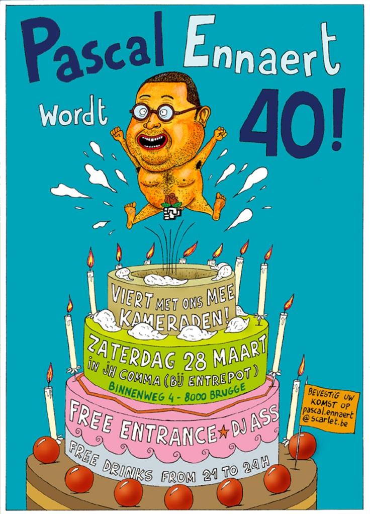 Uitnodiging voor 40ste verjaardag! Zie je wel dat ik nog atletisch ben ...