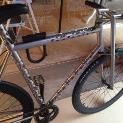 Een gelasercutte designer fiets van Bruggeling Tobias Knockaert